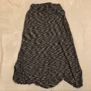 Merona Black & White Maxi Skirt
